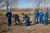 jsc2016e181837 (NASA Johnson) Tags: expedition 50 peggy whitson preflight prelaunch training baikonur cosmodrome cosmonaut hotel tree planting medical checkout thomas pesquet jack fischer flight suit international nasa roscosmos esa france