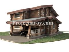 Log cabins - 14.4x16 m (projectstroy) Tags: log project home house design 3d rendrering дом деревянный строительство сруб дикий бревно окоренное порядовка