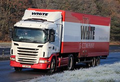 SCANIA G400 - WHITE & Company Removals Forres (scotrailm 63A) Tags: lorries trucks removals