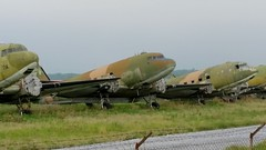 Douglas C-47's Skytrains dumped at Sedes air force base, Greece (sirgunho) Tags: greece haf hellenic thessaloniki stored preserved wfu sedes greek air force base aircraft c47 dc3 dakota douglas c47a skytrain serial 92635 c47b cn 16451 33199 kn575 4658 92627 13837 92634 9720 92638 16204 32952 kn475 c47s skytrains dumped