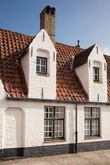 Traditional row houses (Explored) (paul indigo) Tags: belgium bruges brugge paulindigo architecture building facade historic roof streetphotography