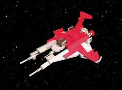 Red Fury VV - Novvember 2016 #2 (timhenderson73) Tags: lego vic viper spaceship custom moc novvember