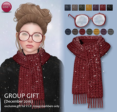 VIP Group Gift December (Izzie Button (Izzie's)) Tags: winter gift vip izzies scarf glasses snow sl