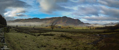 St Johns in the vale. (CamraMan.) Tags: stjohnsinthevale lakedistrict fells skiddaw snow winter mist nature panasoniclumixtz60 ©camraman ©davidliddle sky clouds cumbria wall