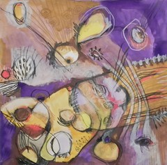 POLLINATION (Teresa Fortsch) Tags: abstract mixed media connecticutartist teresafortsch