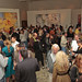 Guests enjoy wine, food and art at Jordan Winery's 4 on 4 Art Competition at Hadid Gallery on April 11