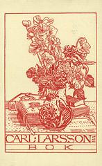 [Ex libris Carl Larsson] (Stifts- och landsbiblioteket i Skara) Tags: sweden vase sverige exlibris bookplates blomvas