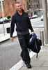 Randy Orton WWE wrestlers outside of their hotel Dublin, Ireland