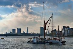 The Shard from Greenwich - London (»WOLFE«) Tags: london thames river boats nikon ships capital greenwich shard riverthames southwark d80 theshard rnbthames londonshard