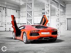 Lamborghini Aventador LP700-4 (Tareq Abuhajjaj | Photography & Design) Tags: light red sky bw orange moon white black car sport race speed dark photography lights design photo big high nice nikon flickr power top wheels fast gear ferrari turbo lp saudi arabia manual fiber rims lamborghini riyadh  2010 v12 ksa 070 tareq  7004    d700 aventador tareqdesigncom tareqmoon tareqdesign  abuhajjaj  tareqdesignlamborghini