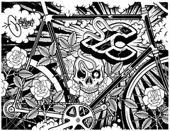 Mike Giant (Exhibition.ism) Tags: white black mike tattoo illustration giant skull graffiti punk comic graphic drawing hipster hardcore