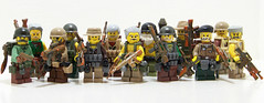Old Dude Rust Barf - Group Shot (Silenced_pp7) Tags: old brick rust arms lego dude barf prototype minifigs custom figures figs m16 proto minifigure mercenary protos minfig brickarms