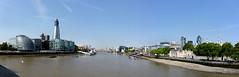 London. Tower Bridge. Panoramica (R come Rit@) Tags: panorama london thames landscape rivers views londra tamigi fiumi ritarestifo