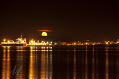 Finally! Super Moon!!! (MarianneSPhotography) Tags: lights refinery may2012 supermoon2012
