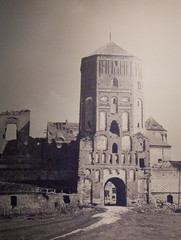 Mir Castle In The Old Times (lemmingby) Tags: old bw building castle history museum buildings travels historic photocopy oldphoto trips belarus unescoworldheritage mir mircastle otherwheres