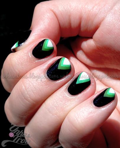 Green Chevron Tips
