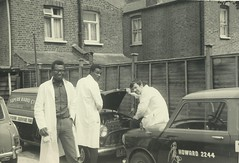 Edmonton (ex Superb Radio) workshop 1967 Errol Bob and 1 other