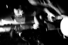 Drinking People Sliding Sideways (sce87) Tags: street city blackandwhite bw film night 35mm spain noir mood adventure zaragoza espana 1200 yashica highspeedfilm doceuvas