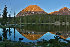 "Morning reflection at Pass Lake (IronRodArt - Royce Bair (""Star Shooter"")) Tags: morning reflection uintas baldmountain passlake reidspeak highuintaswilderness highuintaswildernessarea"