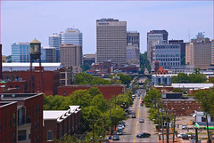 Downtown Richmond (VA) from Libby Hill Park June 2012