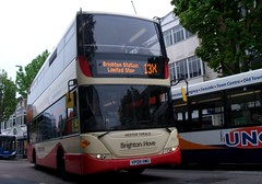 Brighton & Hove 731  on route 13X Eastbourne 19/05/13. (Ledlon89) Tags: bus sussex transport eastbourne scania brightonhove omnicity southcoasttransport buswes