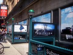Oblivion Movie Poster Billboard Sci-Fi Movie  0212 (Brechtbug) Tags: world street new york city nyc travel bridge cruise fiction mars film monster architecture movie poster design theater downtown ship theatre manhattan space alien ad bridges craft science billboard lobby helicopter planet scifi end scenario type planets spaceship pulp but blade mead amc avenue syd runner 35 8th ton oblivion hover brighter standee esthetic 2013