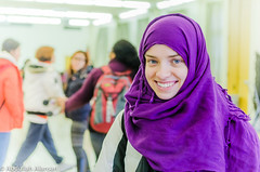 MSA hijab day (bo5alid alansari  P2BK) Tags: ohio portrait people usa white black color college america photography ada student university interior muslim picture hijab indoor oh onu abdullah  msa  alansari