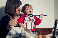 Grandmother And Granddaughter Baking In Kitchen (Fon-tina) Tags: girls people italy food cooking kitchen smiling cake horizontal recipe photography togetherness baking women europe baker child adult grandmother egg happiness apron indoors granddaughter homemade butter chef grandchild learning service mixing teaching hobbies females cheerful twopeople foodanddrink domesticlife assistance retirement offspring grandparent vicenza measuring ingredient mixingbowl bassanodelgrappa cookerybook senioradult activeseniors seniorwomen homeinterior domestickitchen makingacake caucasianappearance nutritionlabel multigenerationfamily 6069years domesticroom