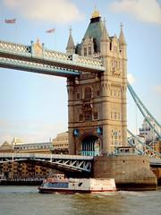 Going under London Tower bridge (Germn Vogel) Tags: uk bridge england london thames towerbridge river boat europe riverside britain capital landmark citycruises westeurope