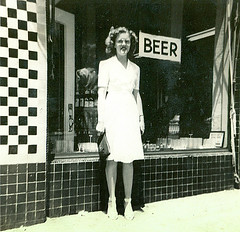 Moms For Beer (gebodogs) Tags: beer mom storefront oldfamilyphoto mymomtherebel mymomwhenshewasyoung