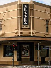 Sussex Hotel, Walkerville (baytram366) Tags: old signs heritage stone architecture corner buildings lights sussex hotel hall store phone traffic terrace library south australia stephen shops adelaide council suburbs eastern walkerville drapers tce