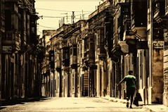 Malta - Mdina - Silent city (Pana53) Tags: street man alone malta mann mdina balkone mittagszeit erker mittelmeer allein silentcity strase menschenleere pana53 creativephotocafe photographedbypana53 diestillestadt
