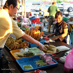 Busy Morning (LeonComa) Tags: morning cakes market streetphotography buns kotakinabalu