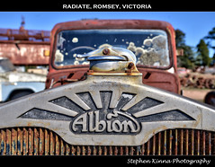 Radiate (Stephen Kinna Photography) Tags: old sun cars abandoned car sunshine closeup neglect truck emblem logo scotland photo moss cabin nikon rust decay glasgow cab neglected engine rusty australia victoria front motors cap abandon forgotten rusted 1950s weathered lichen grille wreck radiator crusty hdr highdynamicrange decayed decaying albion romsey radiatorcap scotstoun nikond600 photoengine oloneo stephenkinna stephenkinnaphotography