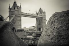 Tower and Bridge (AlistairBeavis) Tags: blackandwhite london tower stone thames towerbridge grey alistairbeavis jazzfruitcom
