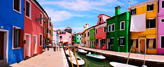 Panorama of Burano, Venezia, Italy (TOTORORO.RORO) Tags: life street city travel cruise venice light italy panorama house color tourism water stone architecture river shopping island mirror landscapes europe mediterranean artist sony vivid lifestyle dry lagoon tourist medieval clothes cobblestone translucent gondola venetian alpha popular visitor venezia hang slt burano attractions vaporetto waterbus sanmartino paintedhouses northernitaly a55 hangedclothes