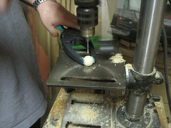 "Drilling a set screw hole • <a style=""font-size:0.8em;"" href=""http://www.flickr.com/photos/61091961@N06/8932630325/"" target=""_blank"">View on Flickr</a>"