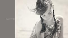 Freckles :0) (Samantha Nicol Art Photography) Tags: girls portrait cute art beach girl mono dress freckles samantha pleats nicol