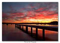 Bolton Point_09-06-2013_0010-Framed (DoctorJ73) Tags: sunset sun lake water canon point eos james pier boat jetty wharf bolton nsw 7d mooring danny macquarie sundacne