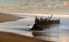 The Trinculo Wreck Ninety Mile Beach (laurie.g.w) Tags: ocean beach sand long exposure waves tide shoreline victoria east shipwreck coastline wreck 90 mile gippsland the ninety trinculo