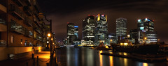 Meridian Gate Panoramic (www.paulshearsphotography.com) Tags: street uk england sky reflection building london water night buildings reflections boats lights boat nightlights britain streetlights nightsky tug canarywharf statestreet hsbc citigroup barclays citi meridiangate cliffordchance barclaysbank westindiadocks steamtug efs1755mmf28isusm portwey canoneos60d hsbcheadoffice cliffordchancellp paulshears paulshearsphotography wwwpaulshearsphotographycom