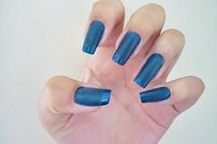 Unha azul fosca (Karoline Bione) Tags: nail nails unhas nailart unha unhasdecoradas unhaazul unhadecorada unhafosca