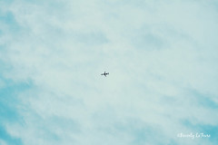 in the air (life stories photography) Tags: blue ohio sky white clouds plane flying spring may 2013 beverlylefevre