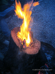 Flame It Up (K. Englert) Tags: wood camping fire campfire flame stump