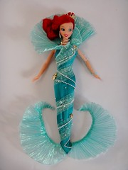 Aqua Fantasy Ariel - 12'' Disney Collector Doll - Film Premiere Edition - Mattel 1997 - First Look - Deboxing - All Restraints Removed - Full Front View (drj1828) Tags: ariel aqua doll fantasy 1997 mermaid mattel 12inch firstlook thelittlemermai