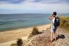 Baywatch (**Anik Messier**) Tags: uk summer england cliff holiday man beach tourist binoculars shore dorset englishchannel hengistburyhead poolebay coastuk welcomeuk
