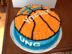 Basketball Cake by Vickie, Triad Area, NC, www.birthdaycakes4free.com