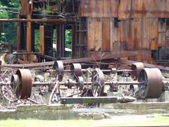 ruins of the Cass timber mill (ctcrankees) Tags: westvirginia steamtrain cassscenicrailway