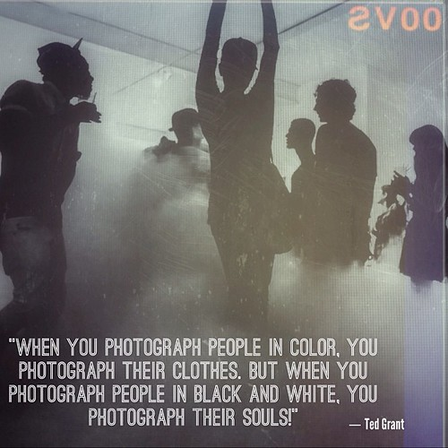 When you photograph people in color you photograph their clothes but when you photograph people in black and white