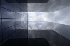 Boras reflections I (Furcletta) Tags: swe boras holidays summer modernarchitecture architecture windows clouds reflections glass grey blue white dark 24mm14g building ginatricots sweden ostrellina